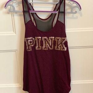 PINK Victoria's Secret Tops - 👗2 for $20👗VS Pink bling mesh Y-back tank